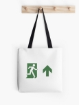 Running Man Fire Safety Exit Sign Emergency Evacuation Tote Shoulder Carry Bag 116