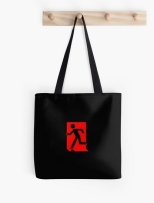 Running Man Fire Safety Exit Sign Emergency Evacuation Tote Shoulder Carry Bag 117
