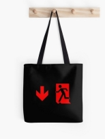 Running Man Fire Safety Exit Sign Emergency Evacuation Tote Shoulder Carry Bag 118