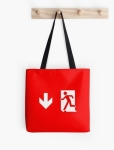 Running Man Fire Safety Exit Sign Emergency Evacuation Tote Shoulder Carry Bag 12