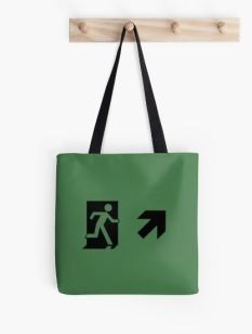 Running Man Fire Safety Exit Sign Emergency Evacuation Tote Shoulder Carry Bag 120