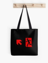 Running Man Fire Safety Exit Sign Emergency Evacuation Tote Shoulder Carry Bag 121