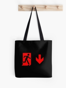 Running Man Fire Safety Exit Sign Emergency Evacuation Tote Shoulder Carry Bag 124