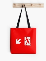 Running Man Fire Safety Exit Sign Emergency Evacuation Tote Shoulder Carry Bag 13