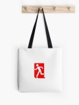 Running Man Fire Safety Exit Sign Emergency Evacuation Tote Shoulder Carry Bag 130