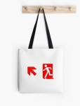 Running Man Fire Safety Exit Sign Emergency Evacuation Tote Shoulder Carry Bag 134