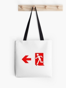 Running Man Fire Safety Exit Sign Emergency Evacuation Tote Shoulder Carry Bag 135