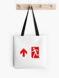 Running Man Fire Safety Exit Sign Emergency Evacuation Tote Shoulder Carry Bag 136