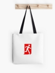 Running Man Fire Safety Exit Sign Emergency Evacuation Tote Shoulder Carry Bag 137