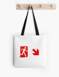 Running Man Fire Safety Exit Sign Emergency Evacuation Tote Shoulder Carry Bag 139