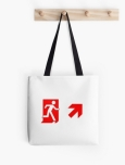 Running Man Fire Safety Exit Sign Emergency Evacuation Tote Shoulder Carry Bag 140