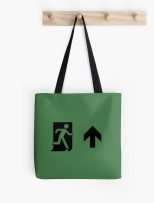 Running Man Fire Safety Exit Sign Emergency Evacuation Tote Shoulder Carry Bag 142