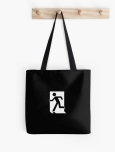 Running Man Fire Safety Exit Sign Emergency Evacuation Tote Shoulder Carry Bag 144