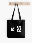 Running Man Fire Safety Exit Sign Emergency Evacuation Tote Shoulder Carry Bag 146