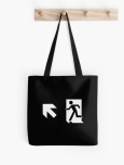 Running Man Fire Safety Exit Sign Emergency Evacuation Tote Shoulder Carry Bag 147