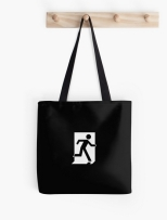 Running Man Fire Safety Exit Sign Emergency Evacuation Tote Shoulder Carry Bag 150