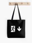 Running Man Fire Safety Exit Sign Emergency Evacuation Tote Shoulder Carry Bag 151