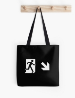 Running Man Fire Safety Exit Sign Emergency Evacuation Tote Shoulder Carry Bag 152