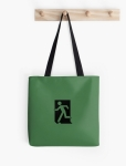 Running Man Fire Safety Exit Sign Emergency Evacuation Tote Shoulder Carry Bag 153