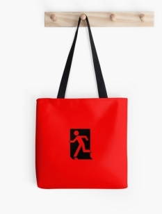 Running Man Fire Safety Exit Sign Emergency Evacuation Tote Shoulder Carry Bag 154