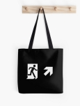 Running Man Fire Safety Exit Sign Emergency Evacuation Tote Shoulder Carry Bag 155