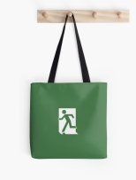 Running Man Fire Safety Exit Sign Emergency Evacuation Tote Shoulder Carry Bag 158