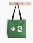 Running Man Fire Safety Exit Sign Emergency Evacuation Tote Shoulder Carry Bag 159