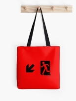 Running Man Fire Safety Exit Sign Emergency Evacuation Tote Shoulder Carry Bag 16