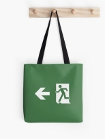 Running Man Fire Safety Exit Sign Emergency Evacuation Tote Shoulder Carry Bag 162