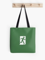 Running Man Fire Safety Exit Sign Emergency Evacuation Tote Shoulder Carry Bag 164