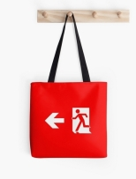 Running Man Fire Safety Exit Sign Emergency Evacuation Tote Shoulder Carry Bag 17