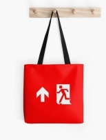 Running Man Fire Safety Exit Sign Emergency Evacuation Tote Shoulder Carry Bag 18