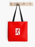 Running Man Fire Safety Exit Sign Emergency Evacuation Tote Shoulder Carry Bag 19
