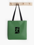 Running Man Fire Safety Exit Sign Emergency Evacuation Tote Shoulder Carry Bag 2