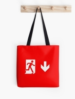 Running Man Fire Safety Exit Sign Emergency Evacuation Tote Shoulder Carry Bag 20