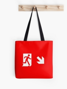 Running Man Fire Safety Exit Sign Emergency Evacuation Tote Shoulder Carry Bag 22