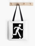 Running Man Fire Safety Exit Sign Emergency Evacuation Tote Shoulder Carry Bag 25