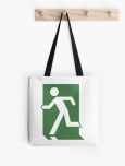 Running Man Fire Safety Exit Sign Emergency Evacuation Tote Shoulder Carry Bag 26