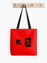 Running Man Fire Safety Exit Sign Emergency Evacuation Tote Shoulder Carry Bag 27