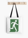 Running Man Fire Safety Exit Sign Emergency Evacuation Tote Shoulder Carry Bag 28