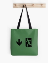 Running Man Fire Safety Exit Sign Emergency Evacuation Tote Shoulder Carry Bag 3