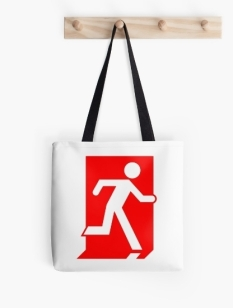 Running Man Fire Safety Exit Sign Emergency Evacuation Tote Shoulder Carry Bag 30
