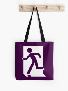 Running Man Fire Safety Exit Sign Emergency Evacuation Tote Shoulder Carry Bag 31