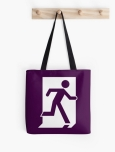 Running Man Fire Safety Exit Sign Emergency Evacuation Tote Shoulder Carry Bag 32
