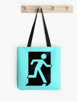 Running Man Fire Safety Exit Sign Emergency Evacuation Tote Shoulder Carry Bag 33