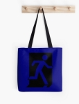 Running Man Fire Safety Exit Sign Emergency Evacuation Tote Shoulder Carry Bag 34