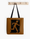 Running Man Fire Safety Exit Sign Emergency Evacuation Tote Shoulder Carry Bag 35
