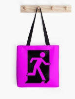 Running Man Fire Safety Exit Sign Emergency Evacuation Tote Shoulder Carry Bag 37
