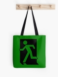 Running Man Fire Safety Exit Sign Emergency Evacuation Tote Shoulder Carry Bag 39
