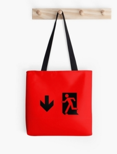 Running Man Fire Safety Exit Sign Emergency Evacuation Tote Shoulder Carry Bag 4